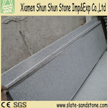 factory price flamed G654 black granite stair step tiles driveway paving