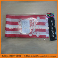 stripe food bag 2014 customer kraft paper shopping bag/supermarket popcorn bag