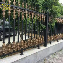 Home garden Decorative Fence Black metal Cast Iron Fencing Panel