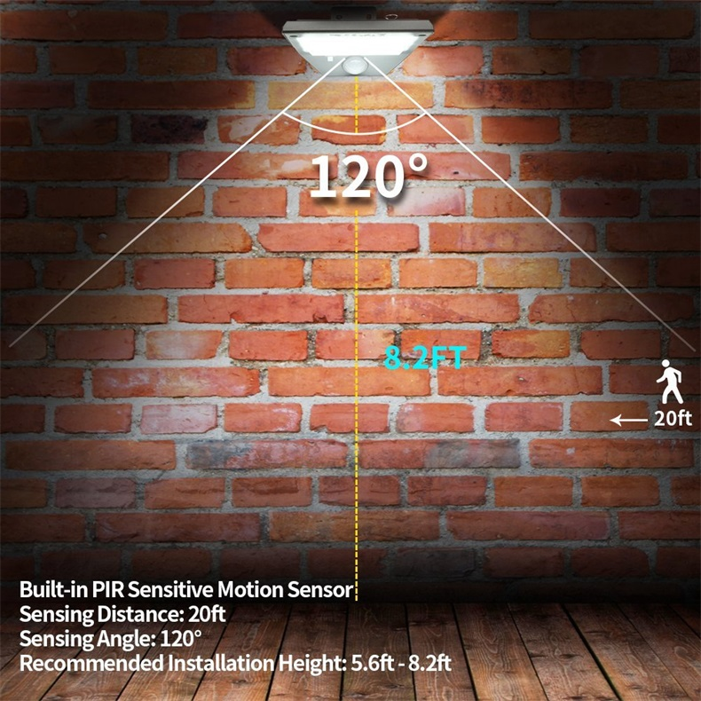 China suppliers  High Lumen LED modern solar motion sensor Activated wall light for garden outdoor garden led wall lamps  IP68