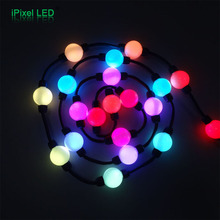 Club ceiling DMX control color changing hanging led light balls