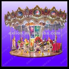 Popular and charming deluxe kiddie 16 seats musical carrousel