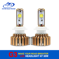 Automobile 30W 3000Lm led auto headlight H7 H11 H1 9005 9006 high power led headlight bulb