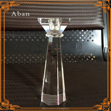 shinning crystal cut glass candle holder