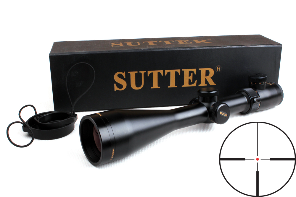 Outdoor Hunting Rifle Scope SUTTER 3-12X56 R12/R29 Red illuminated Optics Scopes w/ Rail Mount