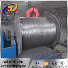 Casi cored wire as deoxidizer