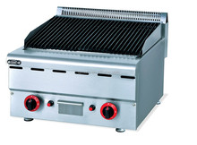 Commercial fast food restaurant counter top Lava rock gas BBQ grill