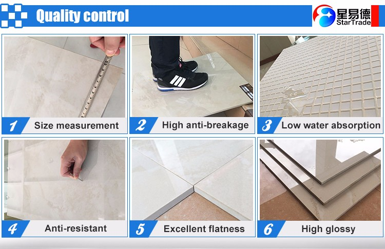 Foshan factory supply non slip polished porcelain tile floor