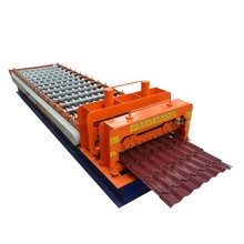 top sale steel automatic control color corrugated plastic roof sheet roll glazed tile making forming machine