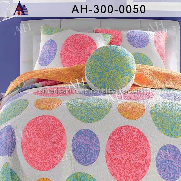 Reversible Polyester Quilt/Microfiber Comforter Set/Bedding Set/Printed Quilt for Wholesale