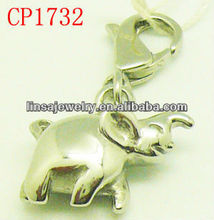 Cheap Stainless Steel Animal Charms with Lobster Clasps