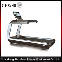 Commercial Treadmill with Heart Rate Sensor/Touch Screen and TV