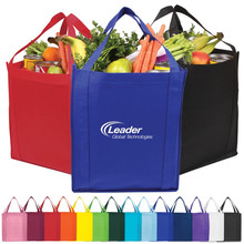 Durable customized promotional printing non woven supermarket shopping bag
