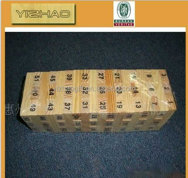 China supplier custom high quality wooden jenga blocks