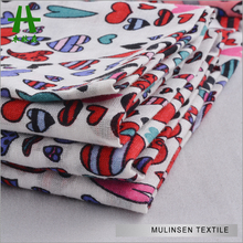 Mulinsen Textile 2015 New Pattern 60s Cotton Voile Cartoon Printed Heart Fabric