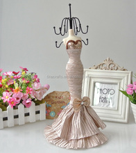32cm Silver mannequin doll jewelry display holder