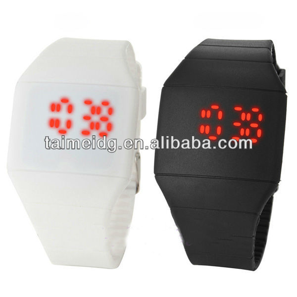 gift& quamer dual time water &touch led watch