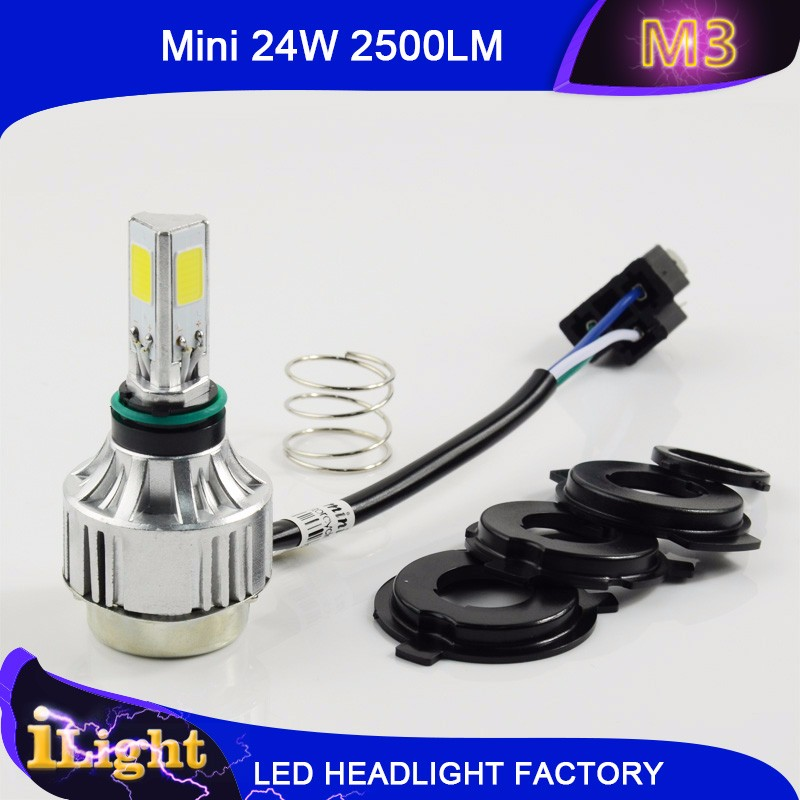 High Quality the smallest Led Headlight 3 sides lighting 24W 2500LM new lpg motorcycle led