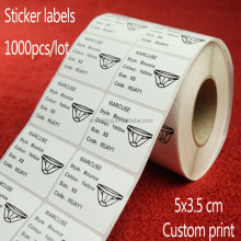 High Quality Custom Roll , CMYK Printing Colorful Roll Adhesive Labels Stickers Machine