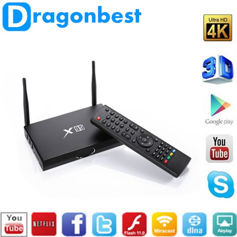 X95 tv box S905 1G 8G Quad core Kodi16.0 android 5.1 google internet set top box smart ott box