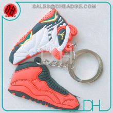 Personalized Cheap Silicone 3D Jordan Sneaker KeyChain/nike keychain