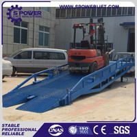 HOT sale!!truck used mobile hydraulic cargo goods loading unloading yard ramp