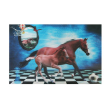 High Definition lenticular pp plastic 3d horse picture