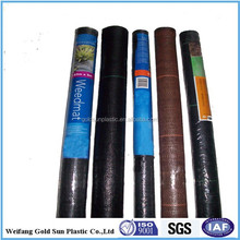 weed control mat ,ground cover,silt fence selvedge, pp woven fabric roll low price ,black color,chinese wholesale manufacturer