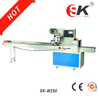 SK-W250 china factory Pillow Automatic small Biscuit /Cake/fruit /Bread food Packaging machine