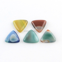Triangle Gemstone Slice Dyed Natural Agate Cabochons