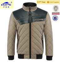 Men popular quilted fashion hoody winter jacekt stock Asia Size