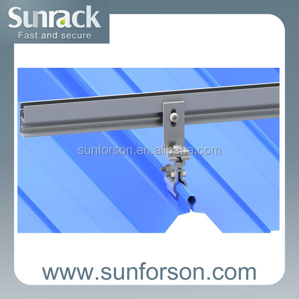 solar panel support structures for sloped roof installation