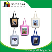 Print Logo Standard Size Cotton Canvas Tote Bag