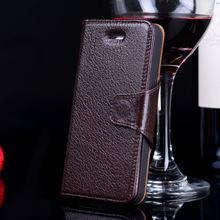 Manufacturer First Layer Genuine Cow Leather Phone Case for Apple iPhone 5 Flip Case
