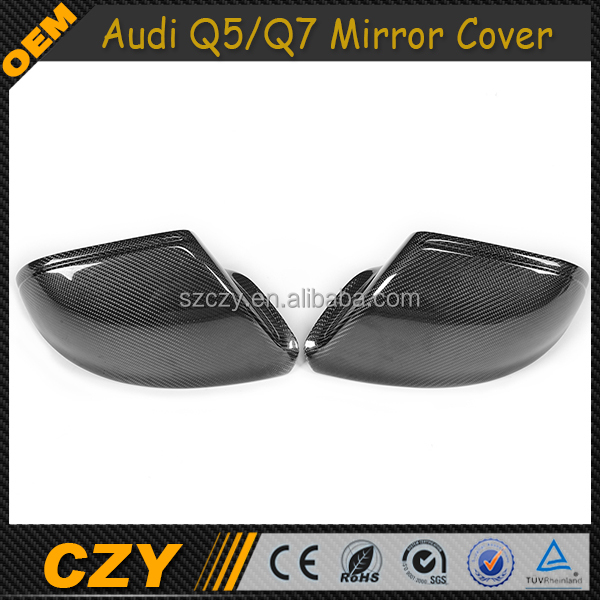 Q5 Q7 Carbon Car Accessories Replacement Mirror Covers For