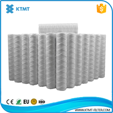 cotton / polypropylene string wound 40 inch 5 micron pp yarn filter cartridge for water purifier ro system