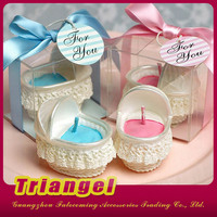 New Product Adorable Baby Carriage Candles For Baby Favors