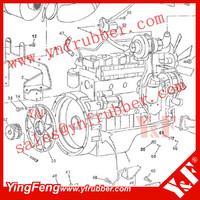 Engine drive shaft coupling for 3D82AE Engine flywheel coupling, damper for 3D84AE