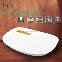 FDL-D.I.Y installation Noble white wireless intelligent auto dial gsm home burglar alarm system with door/window sensor