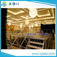 Aluminum frame plywood stage ,acrylic stage platform ,anti-skid event stage
