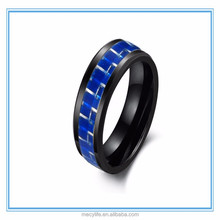 MECYLIFE high-grade fashion wholesale black ceramic Carbon fiber ring