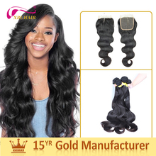 Wholesale bulk hair unprocessed 100% real remy 20 inch virgin brazilian hair weft