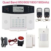 Multi-Language Sites See larger image Quad Band Wireless Home Security LCD display Burglar GSM Alarm