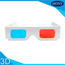 Custom Red cyan anaglyph 3d paper eye glasses,red blue 3d paper glasses for computer games