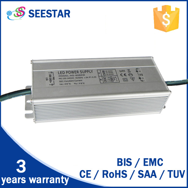 Shenzhen manufacturer 30-36V 100W waterproof IP65 constant current led driver 100w led driver 36V