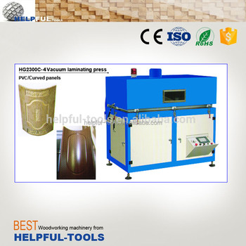 Helpful Brand Shandong Weihai Vacuum membrane press machine HG2300C-4 , vacuum membrane press for cuved panels