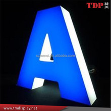 Customized logotype led illuminated 3D channel letters stainless steel lettering store front bright signage advertise display