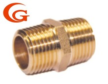 Brass fitting Thread Hexagonal Pipe connector Male Nipple