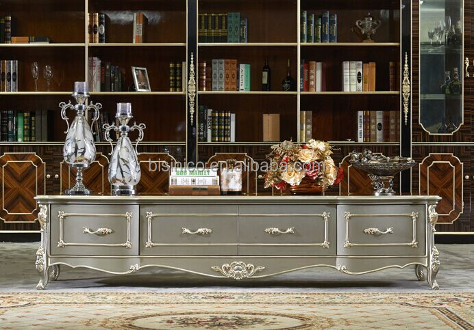 European Style Living Room Furniture Tv Cabinet,Elegant Solid Wood ...