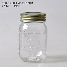 ANTIQUE GLASS JAR WITH SPRAYED COLOR
